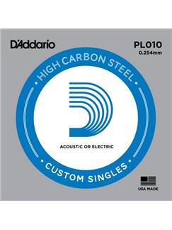 D'Addario: PL010 Plain Steel Guitar Single String, .010  | Guitar