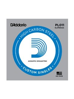 D'Addario PL011: Plain Steel Single Guitar String - 0.28mm (Electric/Acoustic)  | Acoustic Guitar, Electric Guitar