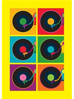 Pop Art: Record Player - Greeting Card  |