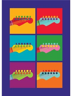 Pop Art: Guitar - Greeting Card  |