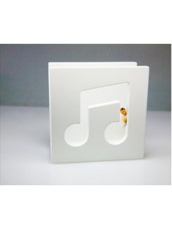Letter Holder - White Quavers  |