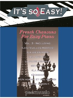 It's So Easy! - French Chansons For Easy Piano Books | Piano