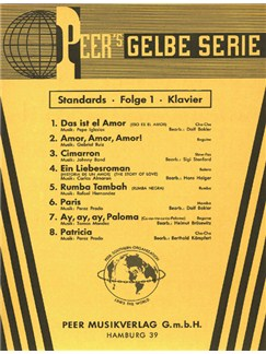 Peer's Gelbe Serie - Standards 1 Books | Piano, Voice