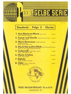 Peer's Gelbe Serie - Standards 3 Books | Piano, Voice