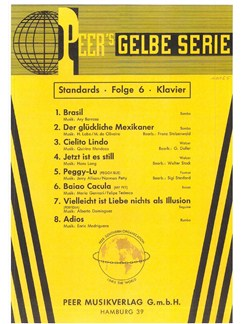 Peer's Gelbe Serie - Standards 6 Books | Piano, Voice