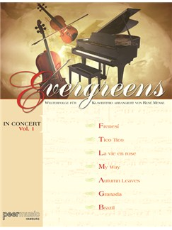 Evergreens In Concert Vol. 1 - Welterfolge für Klaviertrio Books | Cello, Piano, Violin