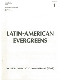 Latin-American Evergreens: Accordion 4 Part Books | Accordion