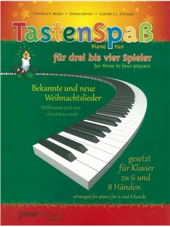 Tastenspass Fuer 3-4 Spieler Bekannte Und Neue Weihnachtslieder Books   Piano Six Hands