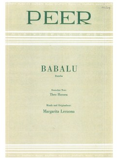 Margarita Lecuona: Babalu Books | Piano & Vocal
