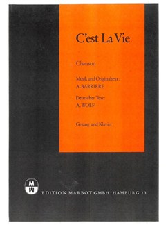 Alain Barriere: C'est La Vie Books | Piano & Vocal
