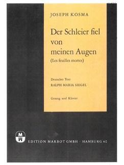 Joseph Kosma: Der Schleier Fiel Von Meinen Augen (Les Feuilles Mortes) Books | Piano & Vocal