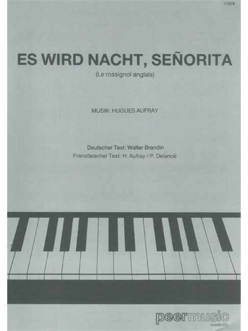 Hugues Aufray: Es Wird Nacht, Senorita - Piano & Vocal Digital Sheet ...