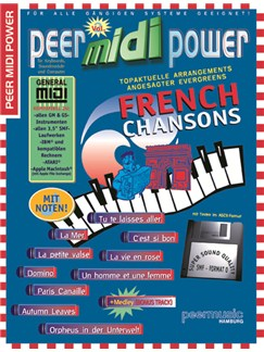 Peer Midi Power Vol. 2 - French Chansons Books and CD-Roms / DVD-Roms | Keyboard