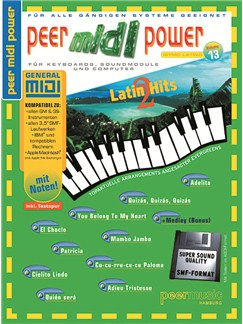 Peer Midi Power Vol. 13 - Latin Hits 2 Books and CD-Roms / DVD-Roms | Keyboard