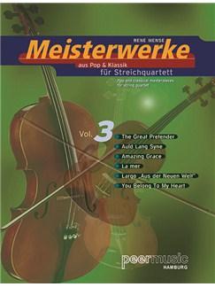 Meisterwerke aus Pop & Klassik für Streichquartett Vol. 3 (Stimmenset) Books   String Quartet