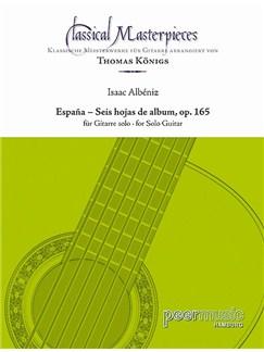 Classical Masterpieces - Isaac Albéniz: Espana Books | Guitar