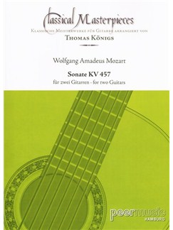 Classical Masterpieces - W.A. Mozart: Sonate KV 457 Books | Guitar