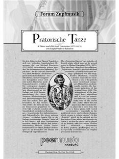 Forum Zupfmusik: Paulsen-Bahnsen - Prätorische Tänze (Mandolin 2) Books | Mandolin