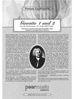 Forum Zupfmusik: J.S. Bach - Gavotte 1 And 2 (Mandolin 1) Books | Mandolin