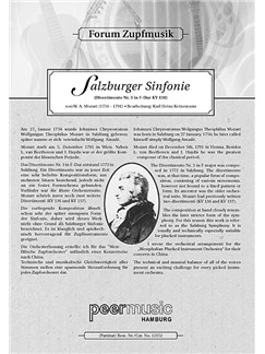 Forum Zupfmusik: W. A. Mozart: Salzburger Sinfonie (Mandola) Books   Mandola