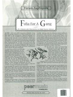 Forum Zupfmusik: Folia For A Gang (Score) Books | Guitar (Quartet)