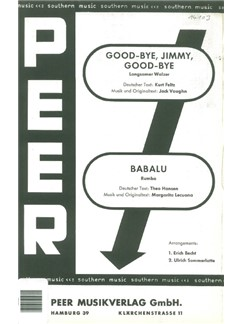 Good Bye, Jimmy, Good Bye/Babalu (Conductor's Score/Parts) Books | Orchestra