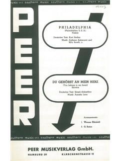 Du Gehörst An Mein Herz/Philadelphia (Salon Orchestra) Books | Orchestra
