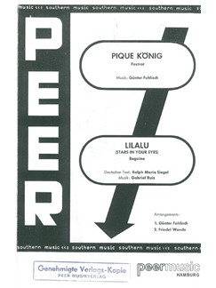 Lilalu (Stars In Your Eyes)/Pique König (Salonorchester) Books | Orchestra