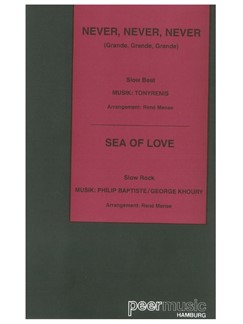 Never, Never, Never/Sea Of Love - XL (Conductor's Score/Parts) Books | Orchestra