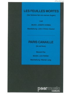 Autumn Leaves/Paris Canaille - XL Score/Conductor's Parts (Salon Orchestra) Books | Orchestra