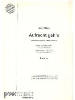 Mary Roos: Aufrecht Geh'n (Big Band) Books | Score