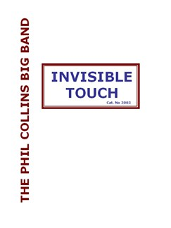 Phil Collins: Invisible Touch (Big Band) Books | Big Band