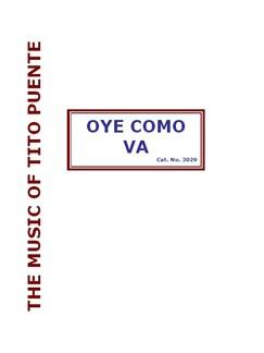 Tito Puente: Oye Commo Va (Big Band) Books | Big Band