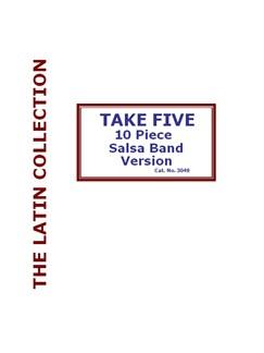 Paul Desmond: Take Five - G Minor (SAlsa Band) Books   Salsa Band