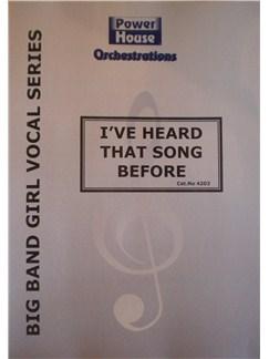 Sammy Cahn/Jule Styne: I've Heard That Song Before Books | Big Band & Concert Band