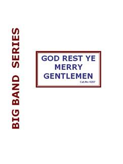 God Rest Ye Merry Gentlemen (Big Band) Books   Big Band & Concert Band