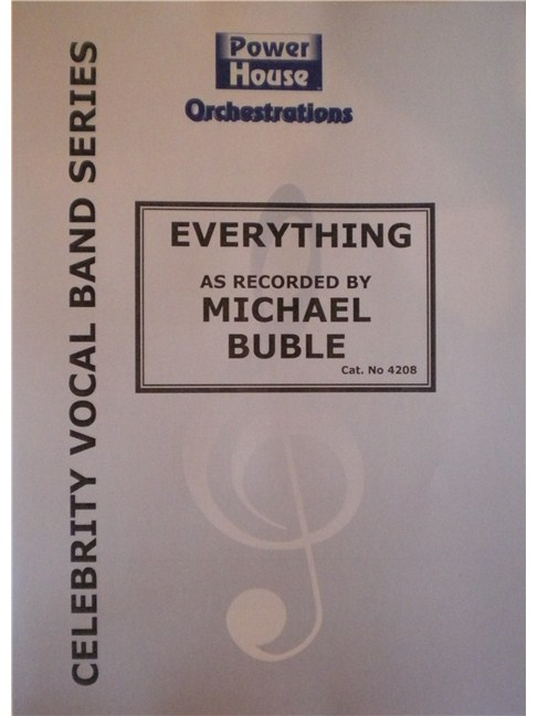 Michael Buble Everything Big Band Concert Band Sheet Music