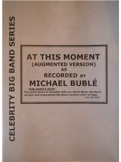 Billy Vera: At This Moment (Micheal Buble) (Arr. Cy Payne) Books | Big Band & Concert Band
