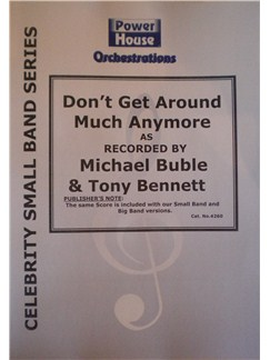 Michael Buble: Don't Get Round Much Anymore (Arr. Cy Payne) Books | Big Band & Concert Band
