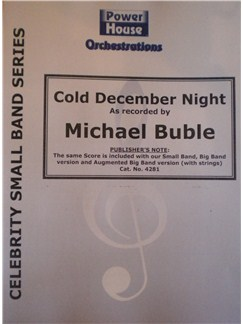 Michael Buble: Cold December Night (Arr. Cy Payne) Books | Big Band & Concert Band