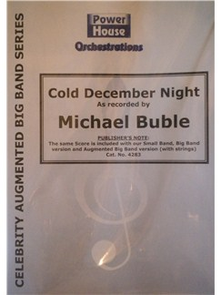Michael Buble: Cold December Night Books | Big Band & Concert Band