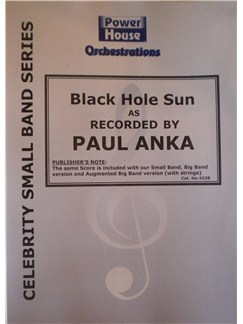 Paul Anka: Black Hole Sun (Arr. Cy Payne) Books | Big Band & Concert Band