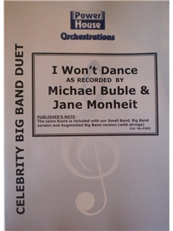 Michael Buble: I Won't Dance (Arr. Cy Payne) Books | Big Band & Concert Band