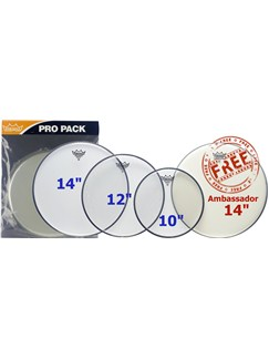 Remo: Emperor Clear Drum Heads Pro Pack - 10/12/14 Inch  | Drums