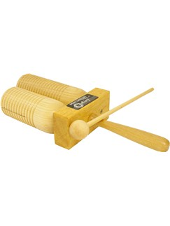 Percussion Plus: Wooden Double Agogo Instruments | Percussion