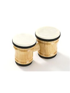 Percussion Plus: Small Bongos (Wooden) Instruments | Bongos