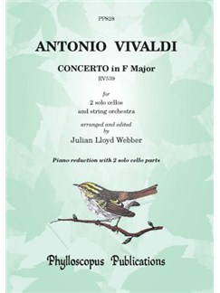 Antonio Vivaldi: Concerto in F major RV539 [PIANO REDUCTION] Books | Cello, Piano Accompaniment