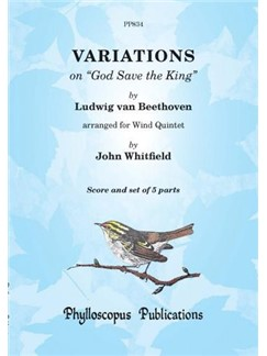 Ludwig Van Beethoven: God Save The King Variations Books | Wind Quintet