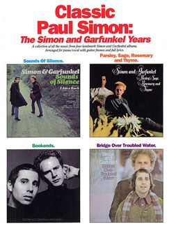 Classic Paul Simon: The Simon And Garfunkel Years Books | Piano, Vocal & Guitar (with Chord Boxes)