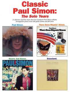 Classic Paul Simon: The Solo Years Books | Piano and Voice, with Guitar chord boxes